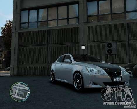 Lexus IS350 2006 v.1.0 para GTA 4 traseira esquerda vista