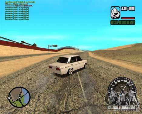 VAZ 2106 tuning para GTA San Andreas traseira esquerda vista