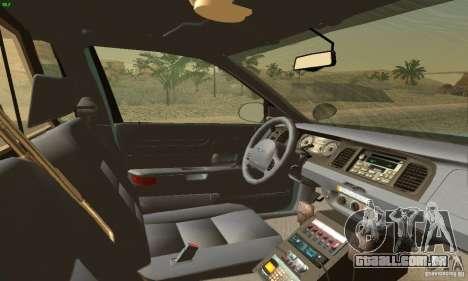 Ford Crown Victoria Maine Police para GTA San Andreas traseira esquerda vista