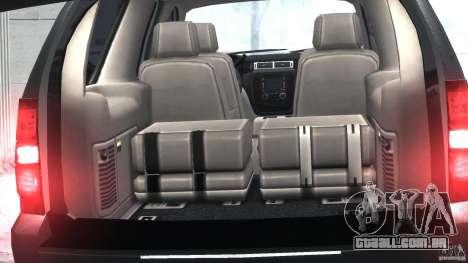 Chevrolet Tahoe 2007 para GTA 4 vista interior