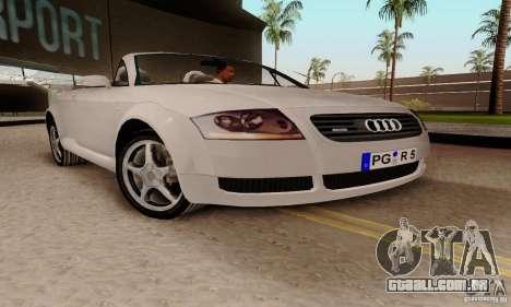 Audi TT Roadster para GTA San Andreas vista direita