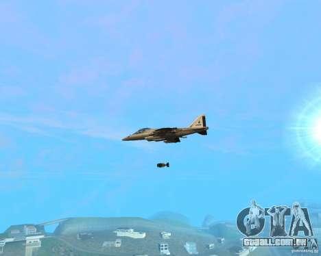 Cluster Bomber para GTA San Andreas segunda tela