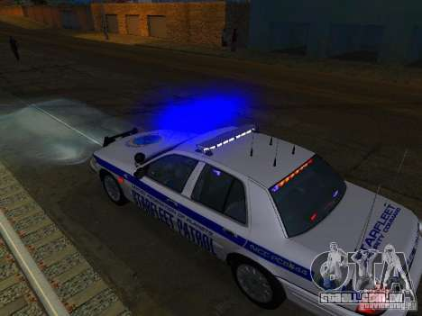 Ford Crown Victoria Police Interceptor 2008 para GTA San Andreas vista inferior