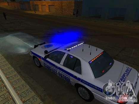 Ford Crown Victoria Police Interceptor 2008 para GTA San Andreas vista inferior