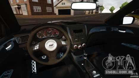 Subaru Impreza Cosworth STI CS400 2010 v1.2 para GTA 4 vista de volta