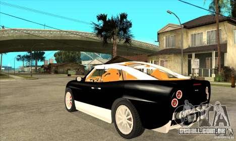 Spyker D8 Peking-to-Paris para GTA San Andreas traseira esquerda vista