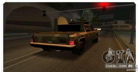 New Rancher para GTA San Andreas traseira esquerda vista