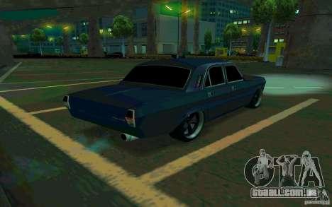 Volga GAZ 24 v2 (beta) para GTA San Andreas traseira esquerda vista
