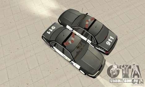 Ford Taurus 1992 Police para GTA San Andreas vista traseira