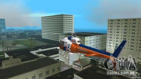 Eurocopter As-350 TV Neptun para GTA Vice City vista direita
