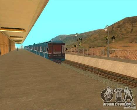 As plataformas elevadas em estações ferroviárias para GTA San Andreas oitavo tela