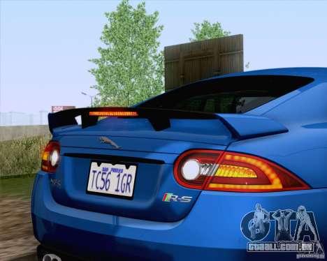 Jaguar XKR-S 2012 para GTA San Andreas vista interior