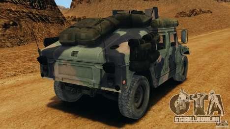 HMMWV M1114 v1.0 para GTA 4 traseira esquerda vista