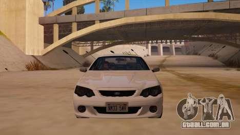 Ford Falcon XR8 2008 Tunable V1.0 para GTA San Andreas vista traseira