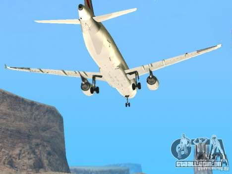 Airbus A320 Air France para GTA San Andreas vista interior
