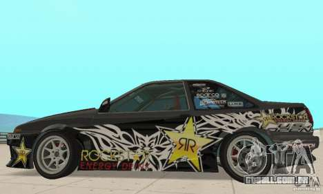 Toyota AE86wrt Rockstar para GTA San Andreas traseira esquerda vista