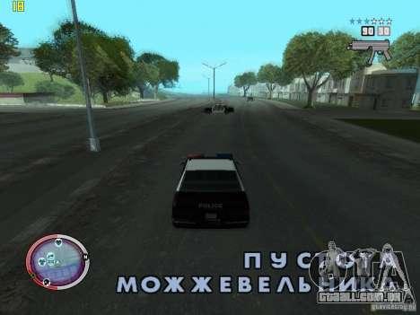 Adição para o GTA IV HUD para GTA San Andreas segunda tela