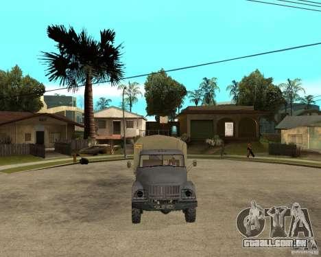 ZIL 131 para GTA San Andreas vista traseira