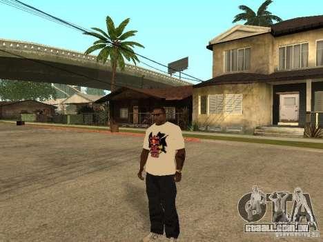 T-Shirt Red Bull para GTA San Andreas segunda tela