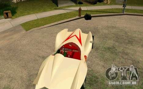 Mach 5 para GTA San Andreas traseira esquerda vista