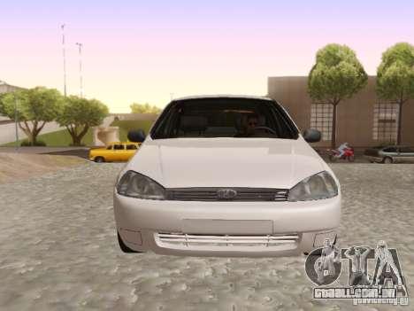 LADA Kalina sedan para GTA San Andreas traseira esquerda vista