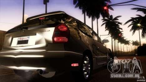 Toyota Corolla G6 Compact E110 US para GTA San Andreas vista superior
