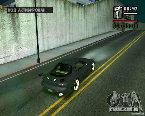 Mazda RX-7 WeaponWar para GTA San Andreas esquerda vista