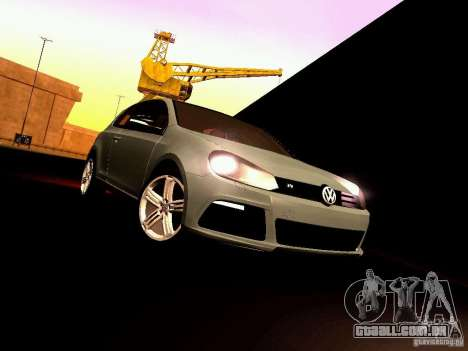 Volkswagen Golf R 2010 para GTA San Andreas vista interior