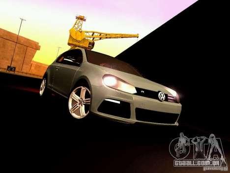 Volkswagen Golf R 2010 para GTA San Andreas vista interior