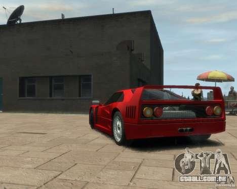 Ferrari F40 para GTA 4 traseira esquerda vista