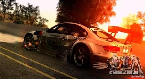 SA gline v4.0 Screen Edition para GTA San Andreas por diante tela