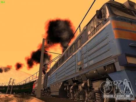 Animtrain para GTA San Andreas por diante tela