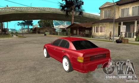 GTA IV Intruder para GTA San Andreas traseira esquerda vista