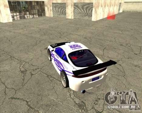 Mitsubishi Eclipse street tuning para vista lateral GTA San Andreas