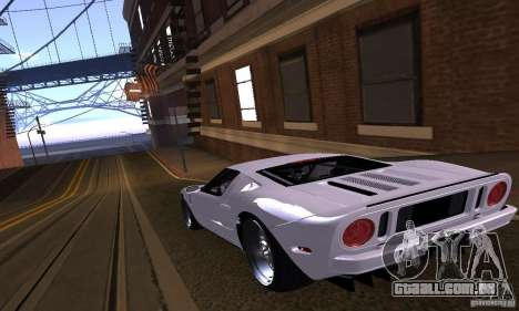 Ford GT 2005 para GTA San Andreas vista inferior