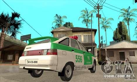 Polícia YPX VAZ-2112 para GTA San Andreas vista direita