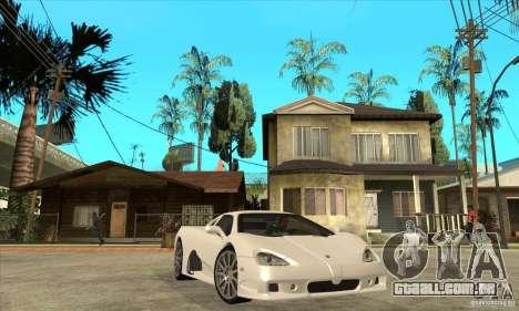 SSC Ultimate Aero Stock version para GTA San Andreas vista traseira