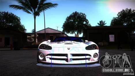 Dodge Viper Mopar Drift para GTA San Andreas vista traseira