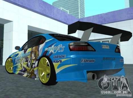 Nissan Silvia S15 para GTA San Andreas esquerda vista