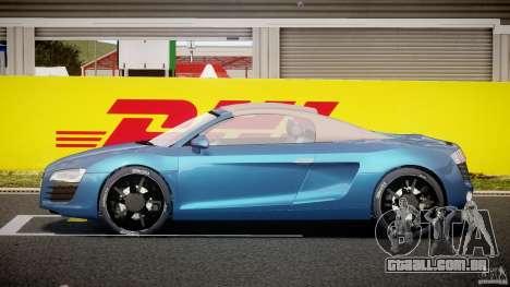 Audi R8 Spyder v2 2010 para GTA 4 vista interior