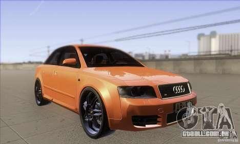 Audi S4 DIM para GTA San Andreas vista traseira