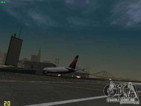 Boeing 767-400ER Delta Airlines para GTA San Andreas vista traseira
