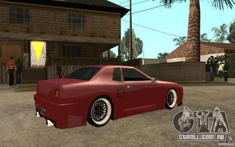 Elegy Modified para GTA San Andreas vista direita