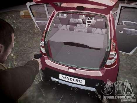 Dacia Sandero Stepway para GTA 4 rodas