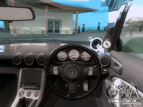 Nissan Silvia S15 drift para GTA San Andreas vista traseira