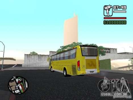 Busscar Vissta Bus para GTA San Andreas esquerda vista