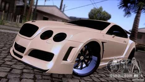 Bentley Continental GT Premier 2008 V2.0 para GTA San Andreas traseira esquerda vista