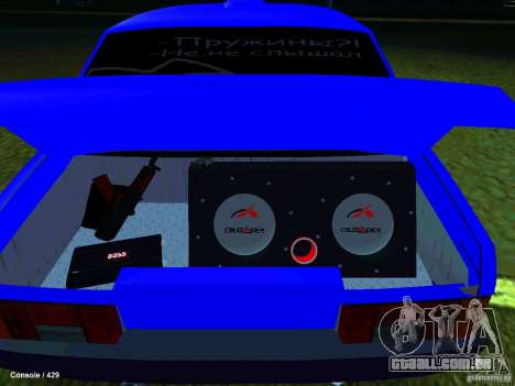 VAZ 21099 Turbo para GTA San Andreas vista traseira
