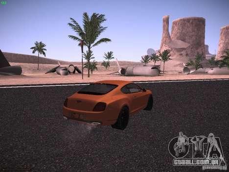 Bentley Continetal SS Dubai Gold Edition para GTA San Andreas traseira esquerda vista