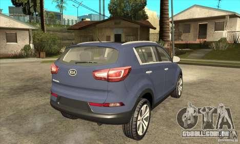 Kia Sportage 2011 HKV para GTA San Andreas vista direita